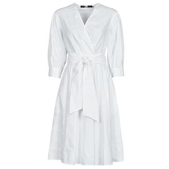 Ruhák Női Rövid ruhák Karl Lagerfeld LOGO EMROIDERED SHIRT DRESS Fehér