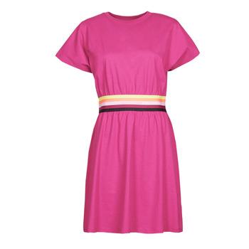 Ruhák Női Rövid ruhák Karl Lagerfeld LOGO TAPE JERSEY DRESS Rózsaszín