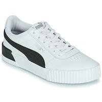 Cipők Női Rövid szárú edzőcipők Puma CARINA Fehér / Fekete