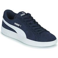 Cipők Gyerek Rövid szárú edzőcipők Puma SMASH JR Kék