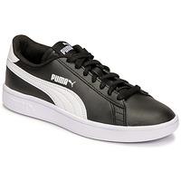 Cipők Gyerek Rövid szárú edzőcipők Puma SMASH JR Fekete