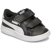 Cipők Gyerek Rövid szárú edzőcipők Puma SMASH INF Fekete  / Fehér