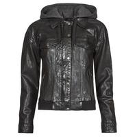 Ruhák Női Bőrkabátok / műbőr kabátok Oakwood RUBY 6 Fekete