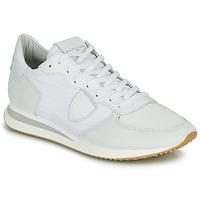 Cipők Férfi Rövid szárú edzőcipők Philippe Model TRPX LOW BASIC Fehér