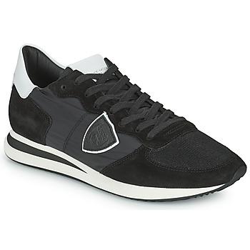 Cipők Férfi Rövid szárú edzőcipők Philippe Model TRPX LOW BASIC Fekete