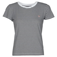 Ruhák Női Rövid ujjú pólók Guess ES SS GUESS LOGO BABY TEE Fekete  / Fehér