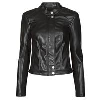 Ruhák Női Bőrkabátok / műbőr kabátok Guess FIAMMETTA JACKET Fekete