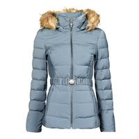 Ruhák Női Steppelt kabátok Guess CLAUDIA DOWN JACKET Kék / Tiszta