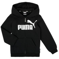 Ruhák Fiú Pulóverek Puma ESSENTIAL BIG LOGO FZ HOODIE Fekete