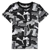 Ruhák Fiú Rövid ujjú pólók Puma ALPHA AOP TEE Fekete