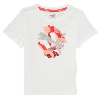 Ruhák Lány Rövid ujjú pólók Puma ALPHA TEE Fehér