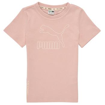 Ruhák Lány Rövid ujjú pólók Puma T4C TEE Rózsaszín