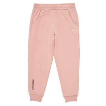 Ruhák Lány Futónadrágok / Melegítők Puma T4C SWEATPANT Rózsaszín