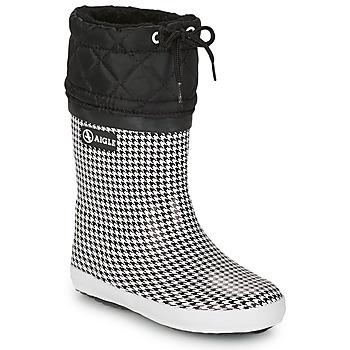 Cipők Lány Hótaposók Aigle GIBOULEE PRINT Fekete  / Fehér