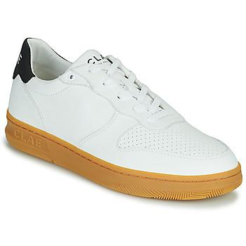 Cipők Férfi Rövid szárú edzőcipők Clae MALONE VEGAN Fehér / Kék