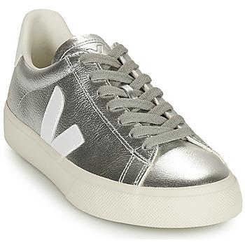 Cipők Női Rövid szárú edzőcipők Veja CAMPO Ezüst / Fehér