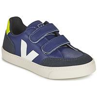 Cipők Gyerek Rövid szárú edzőcipők Veja SMALL V-12 VELCRO Kék / Fehér