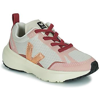 Cipők Lány Rövid szárú edzőcipők Veja SMALL CANARY Fehér / Rózsaszín