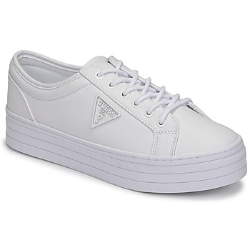 Cipők Női Rövid szárú edzőcipők Guess BHANIA Fehér