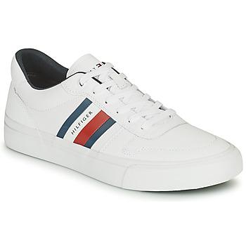 Cipők Férfi Rövid szárú edzőcipők Tommy Hilfiger CORE CORPORATE STRIPES VULC Fehér