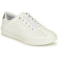 Cipők Női Rövid szárú edzőcipők Tommy Hilfiger COURT LEATHER SNEAKER Fehér