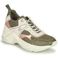 Cipők Női Rövid szárú edzőcipők Tommy Hilfiger FASHION WEDGE SNEAKER Zöld / Rózsaszín