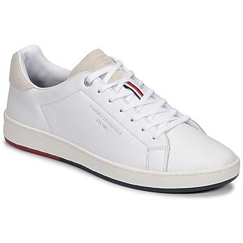 Cipők Férfi Rövid szárú edzőcipők Tommy Hilfiger RETRO TENNIS CUPSOLE LEATHER Fehér