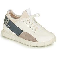 Cipők Fiú Rövid szárú edzőcipők Guess BRODY Fehér