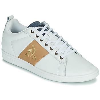 Cipők Férfi Rövid szárú edzőcipők Le Coq Sportif COURTCLASSIC Fehér / Cserszínű