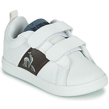 Cipők Gyerek Rövid szárú edzőcipők Le Coq Sportif COURTCLASSIC INF Fehér / Barna
