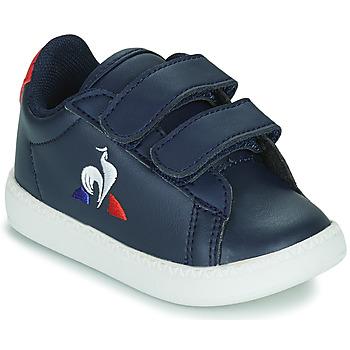 Cipők Gyerek Rövid szárú edzőcipők Le Coq Sportif COURTSET INF Kék