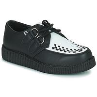 Cipők Oxford cipők TUK VIVA LOW TOE CREEPER Fekete  / Fehér