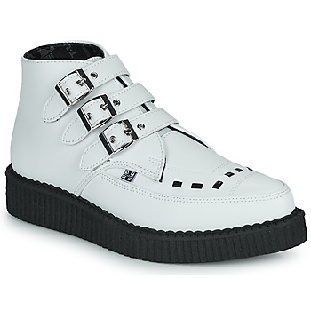 Cipők Csizmák TUK POINTED CREEPER 3 BUCKLE BOOT Fehér