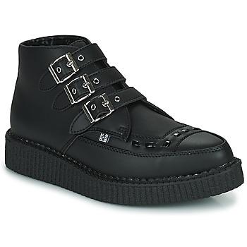 Cipők Csizmák TUK POINTED CREEPER 3 BUCKLE BOOT Fekete