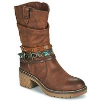 Cipők Női Bokacsizmák MTNG 50003-C52072 Konyak