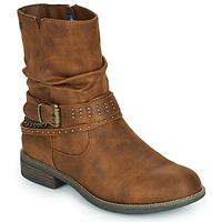 Cipők Női Csizmák MTNG 51892-C52072 Konyak