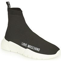 Cipők Női Magas szárú edzőcipők Love Moschino JA15343G1D Fekete