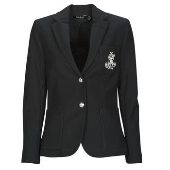 Ruhák Női Kabátok / Blézerek Lauren Ralph Lauren ANFISA-LINED-JACKET Fekete