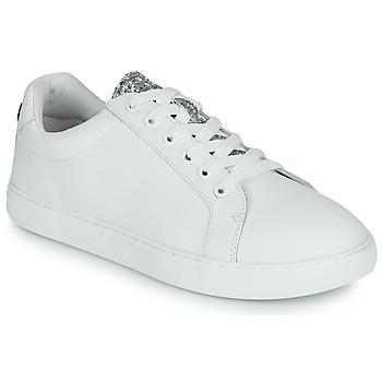 Cipők Női Rövid szárú edzőcipők Bons baisers de Paname SIMONE EYES Fehér