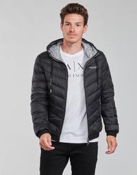 Ruhák Férfi Steppelt kabátok Armani Exchange 8NZB53 Fekete