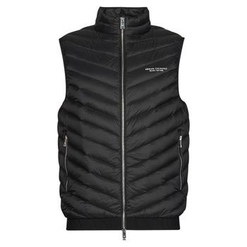 Ruhák Férfi Steppelt kabátok Armani Exchange 8NZQ52 Fekete