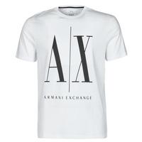 Ruhák Férfi Rövid ujjú pólók Armani Exchange HULO Fehér