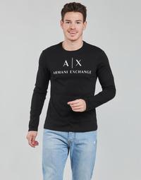 Ruhák Férfi Hosszú ujjú pólók Armani Exchange 8NZTCH Fekete