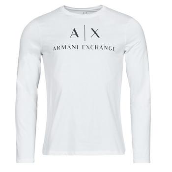 Ruhák Férfi Hosszú ujjú pólók Armani Exchange 8NZTCH Fehér