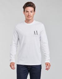 Ruhák Férfi Hosszú ujjú pólók Armani Exchange 8NZTPL Fehér