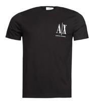 Ruhák Férfi Rövid ujjú pólók Armani Exchange 8NZTPH Fekete