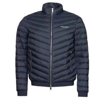 Ruhák Férfi Steppelt kabátok Armani Exchange 8NZB52 Tengerész