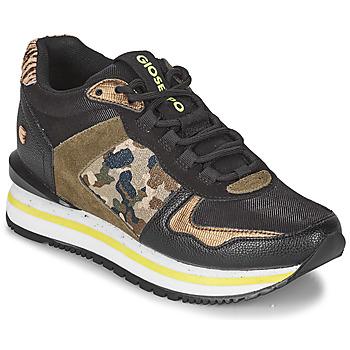 Cipők Női Rövid szárú edzőcipők Gioseppo GRAZ Fekete  / Keki