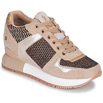 Cipők Női Rövid szárú edzőcipők Gioseppo LILESAND Bézs / Arany