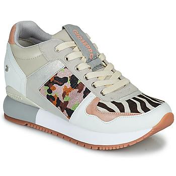 Cipők Női Rövid szárú edzőcipők Gioseppo GISKE Fehér / Többszínű